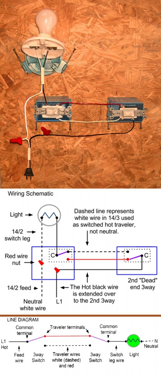 Light at dead end 3-way | Electrician TalkElectrician Talk