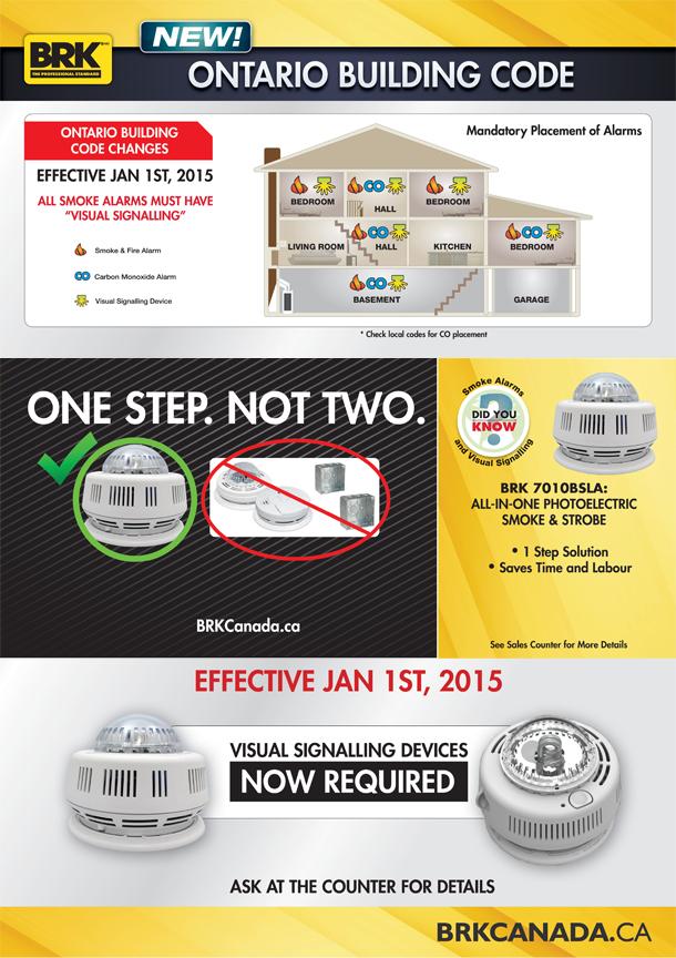 Smoke detectors in bedrooms code