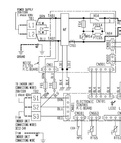 split mitsubishi ac units electrician talk professionalMr Slim Condenser Wiring Diagram For #7