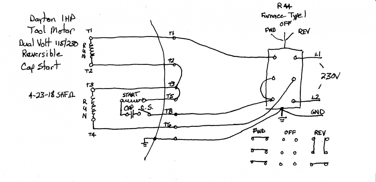 Single Phase 208v Motor Reversing