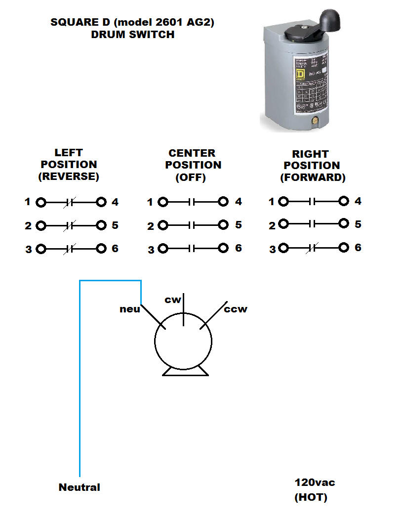 Square D Reversing Drum Switch Wiring Diagram