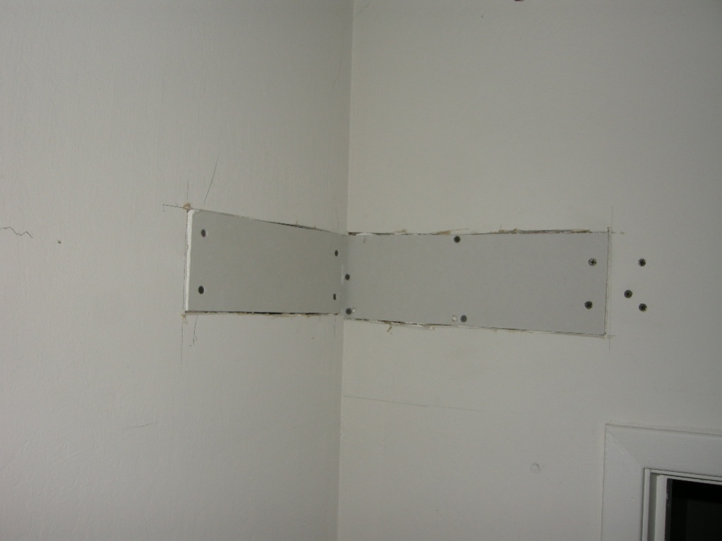 cutting holes in drywall on ceiling to get thru joist when fishing ...
