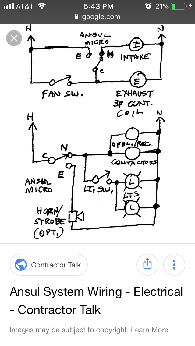 ansul shut down wiring diagram ansul system electrician talk professional electrical  ansul system electrician talk