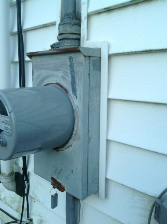 Siding Around Meter Base Question Electrician Talk