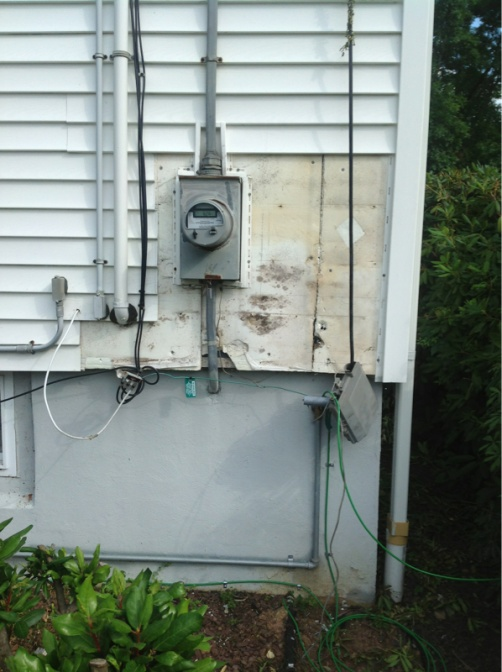 Siding around meter base question? - Electrician Talk - Professional ...