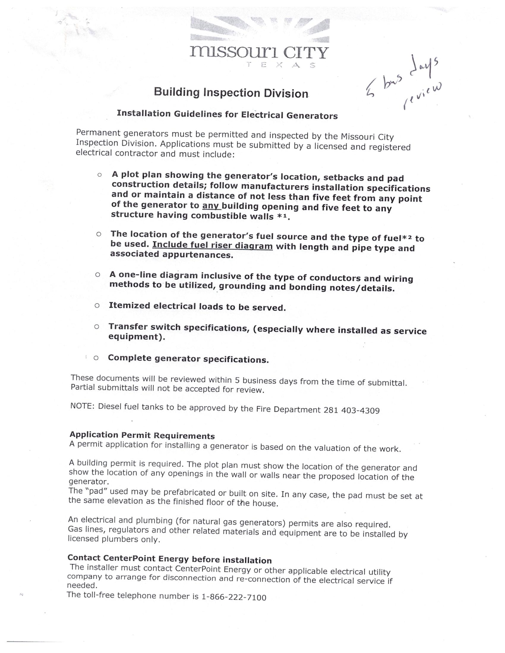 Generator Permit Red Tape Electrician Talk Professional How Does An Electric Work Image 268