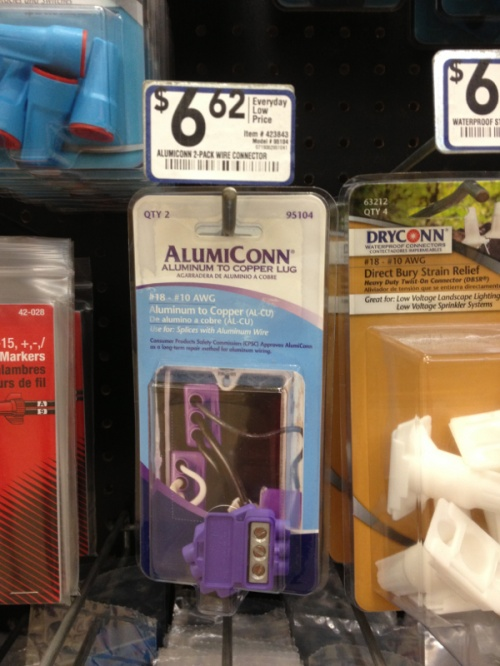 Alumiconn connectors at Lowes - Electrician Talk