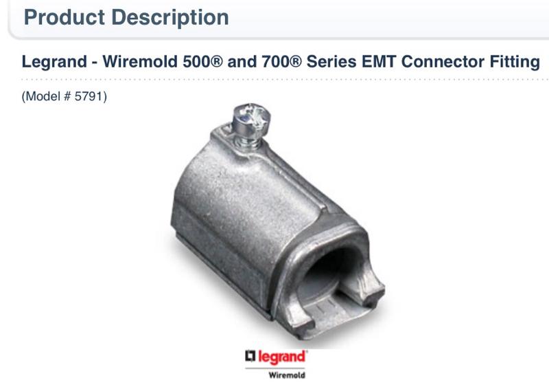 700 Wiremold To Emt - WIRE Center •