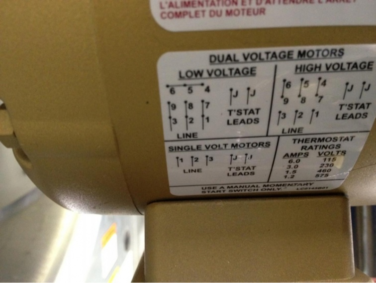 Motor 230  460v - Electrician Talk