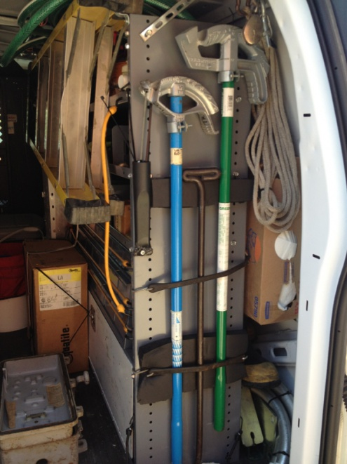 Pipe Bender Storage For Your Work Truck Electrician