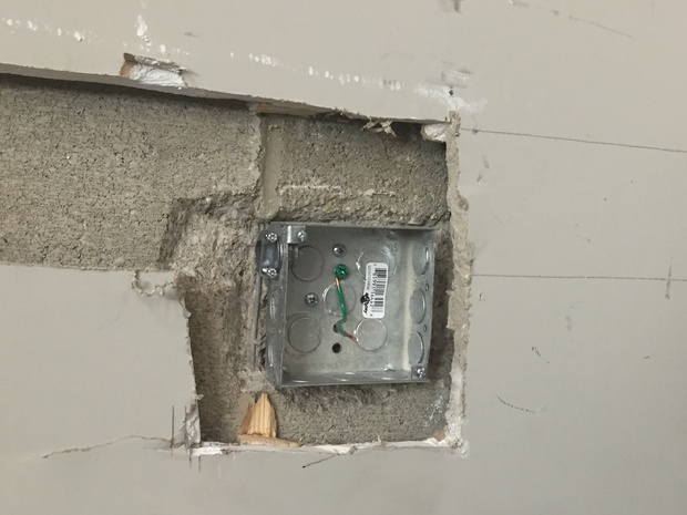Boxes Part Way In Block Wall Electrician Talk