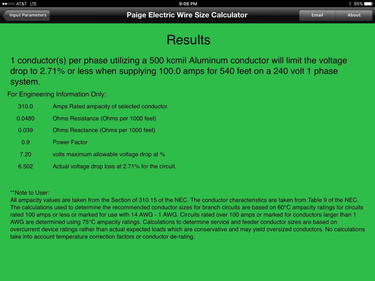 Wire Size Calculation Electrician Talk Professional Electrical Wiring Calculator Img 0317