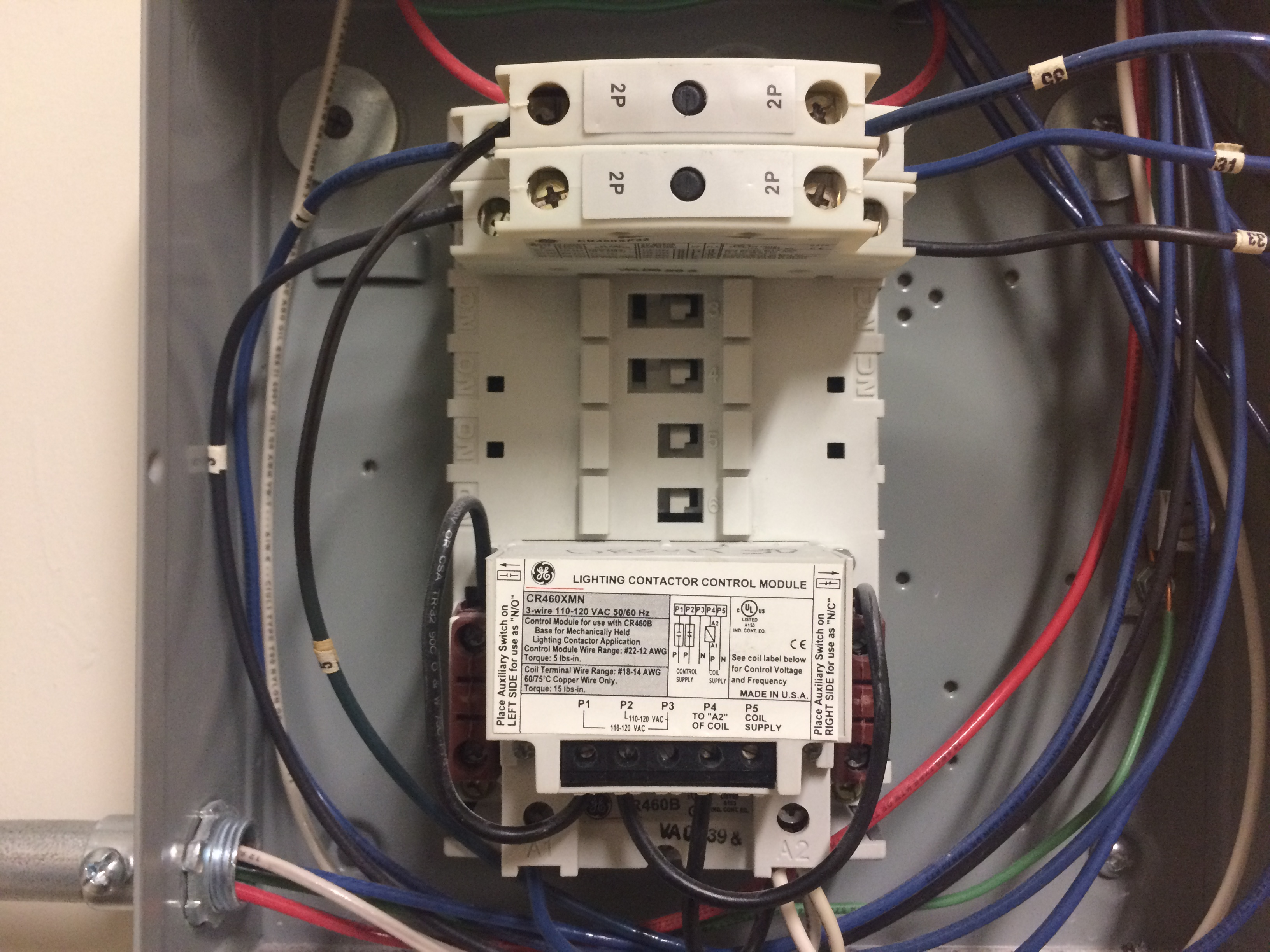ge lighting contactor wiring diagrams manual e books Lighting Contactor Schematic ge lighting contactor wiring diagrams