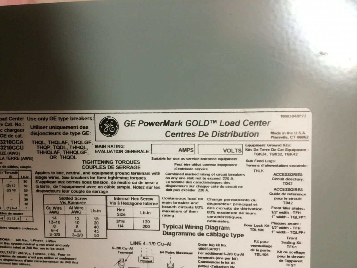 Ge Panel Afci Help Electrician Talk Professional Electrical Wiring Diagrams Img 3155