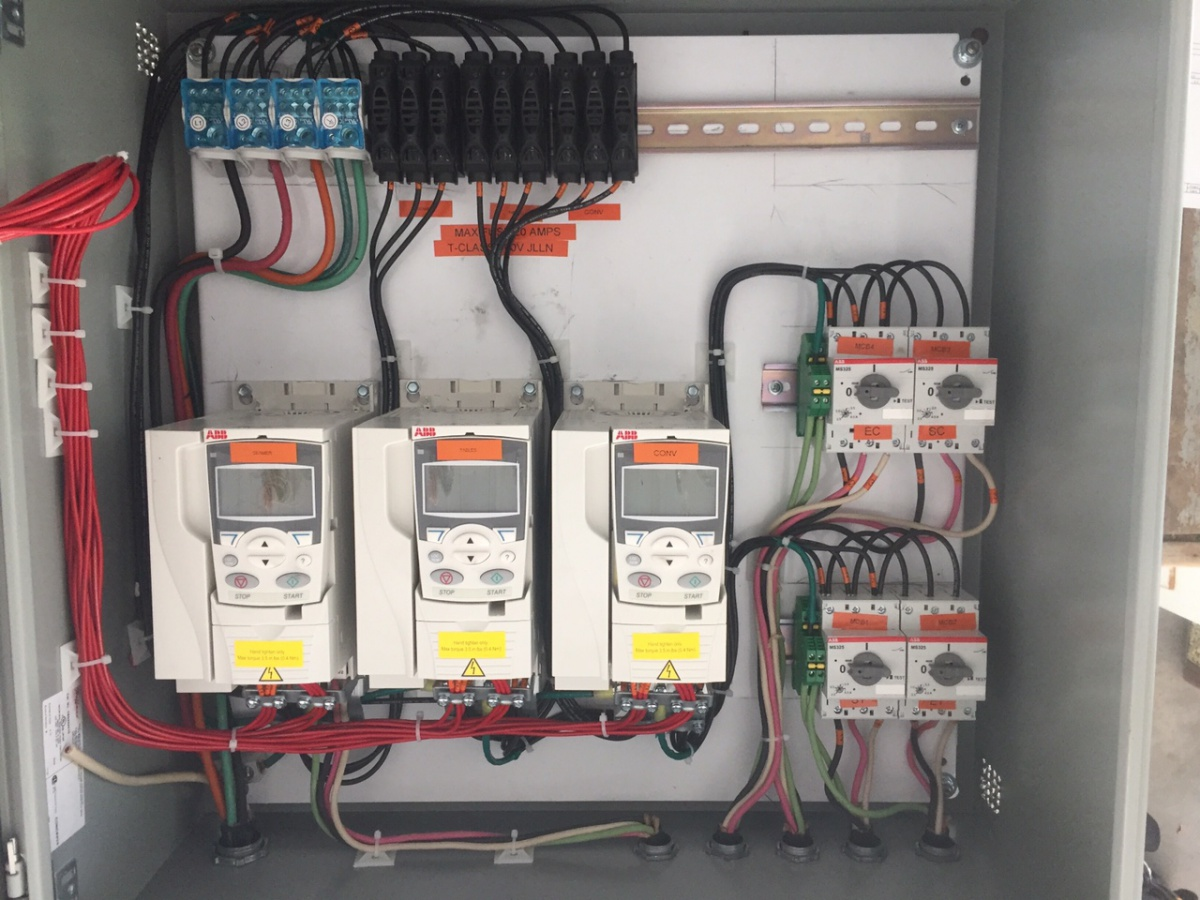 A little square box. Industrial control panel - Electrician Talk ...