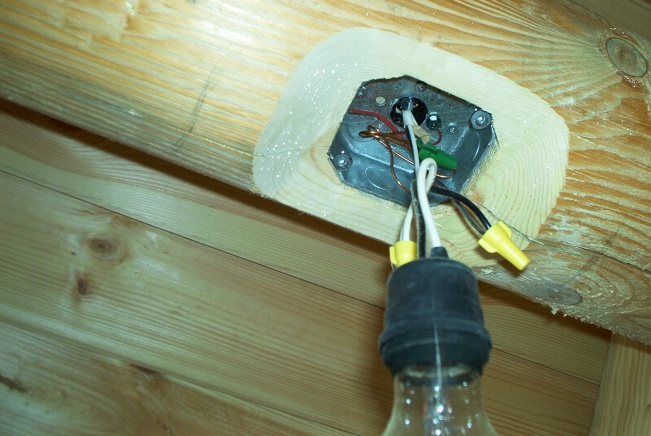 log home wiring electrician talk professional electrical rh electriciantalk com Log Home Roof Insulation Log Home Electrical Outlets