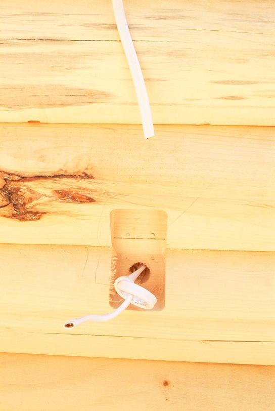 log home wiring electrician talk professional electrical Log Cabin Wiring log home wiring mud creek road 011 jpg