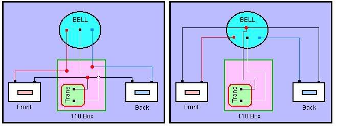 two door chimes electrician talk professional electrical rh electriciantalk com Diagram for Wiring Two Doorbells Doorbell Transformer Wiring Diagram