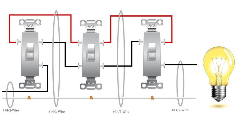 4 way switch - Page 2 - Electrician Talk - Professional ...  Way Electrical Switch Wiring Diagram on