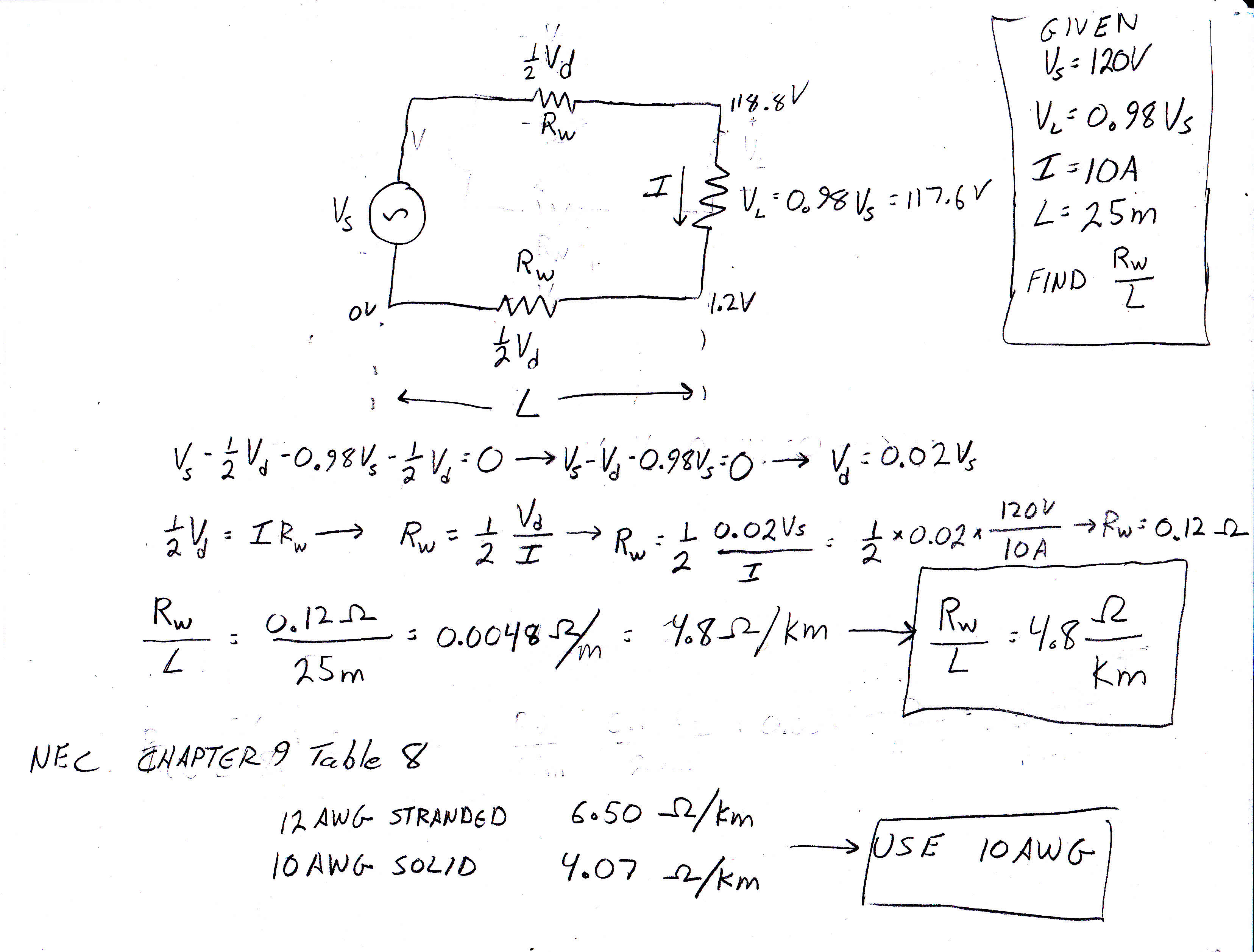 Voltage Drop Formula : Cec voltage drop question electrician talk