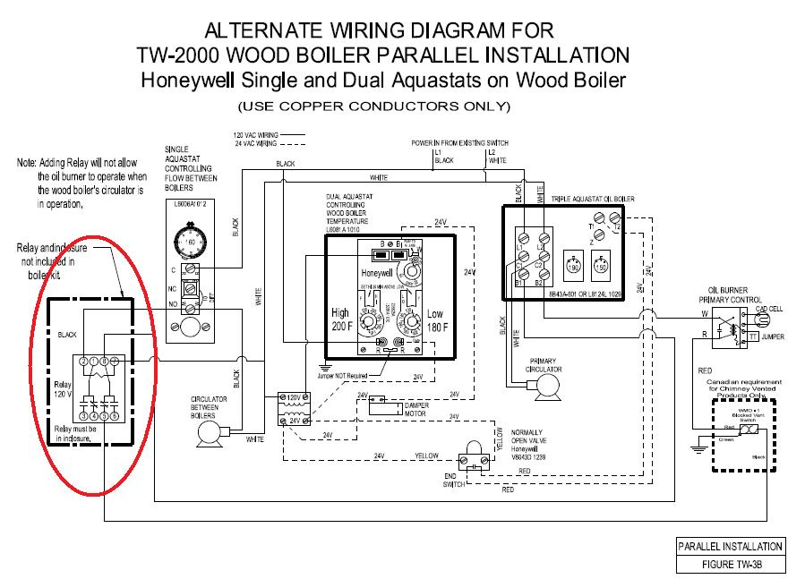 Wiring Aquastat and Relay to control Oil Burner | Electrician TalkElectrician Talk