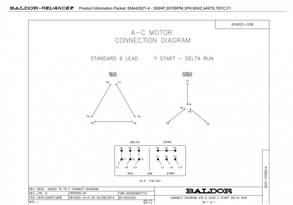 Wye Delta Motor on drive 12 leads only labelled 1-6 | Electrician Talk | Wye Start Delta Run Wiring Diagram |  | Electrician Talk