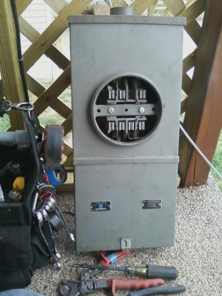 Old 100a 3phase Meter Base Electrician Talk